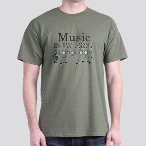 Music is my first Language Dark T-Shirt