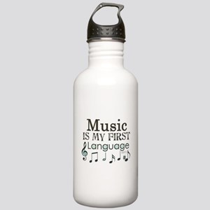 Music is my first Language Stainless Water Bottle