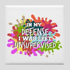In my defense I was left insupervised Tile Coaster