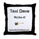 Taxi Dave Rocks-it in black letters 1 Throw Pillow