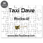 Taxi Dave Rocks-it in black letters 1 Puzzle
