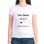Taxi Dave Rocks-it in black letters 1 Jr. Ringer T