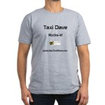Taxi Dave Rocks-it in black letters 1 Men's Fitted