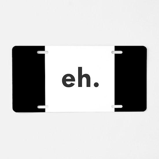 EH Aluminum License Plate