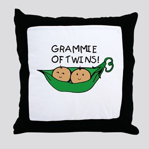 Grammie of Twins Throw Pillow