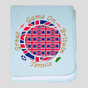 GB Tennis Union Crest baby blanket