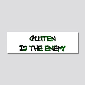 Gluten Is The Enemy Car Magnet 10 X 3