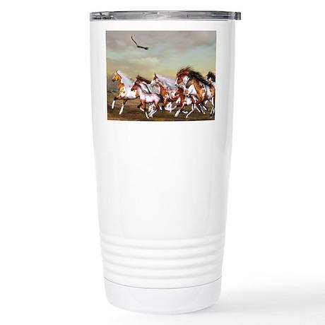 Wild Horses Herd Stainless Steel Travel Mug