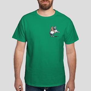 Bigfoot Riding a Unicorn Dark T-Shirt