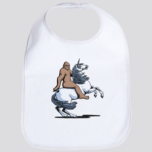 Bigfoot Riding a Unicorn Bib