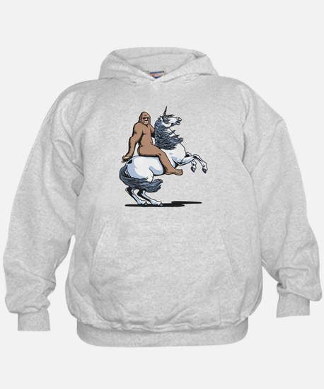 Bigfoot Riding a Unicorn Hoody