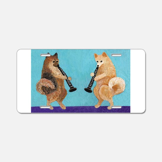 Pomeranian Clarinet Duo Aluminum License Plate