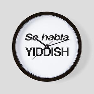 Se Habla Yiddish Wall Clock