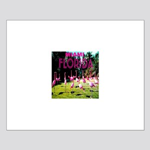 Miami Florida Flock of Flamin Small Poster