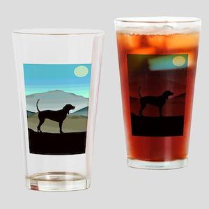 Blue Hills Coonhounds Drinking Glass