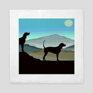 Blue Hills Coonhounds Queen Duvet