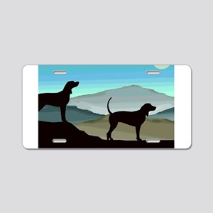 Blue Hills Coonhounds Aluminum License Plate