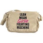 Girlie fighting machine Messenger Bag