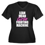 Girlie fighting machine Women's Plus Size V-Neck D
