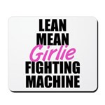 Girlie fighting machine Mousepad
