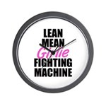 Girlie fighting machine Wall Clock