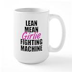 Girlie fighting machine Large Mug