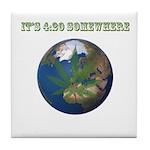 Legalize Marijuana Cannabis Flag Tile Coaster