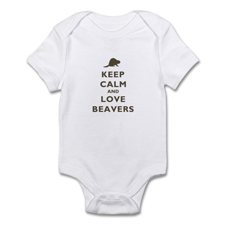 Keep Calm And Love Beavers Infant Bodysuit