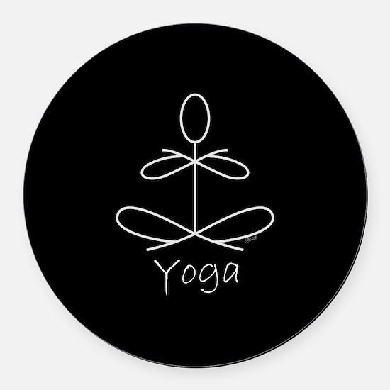 Yoga Glee in White Round Car Magnet