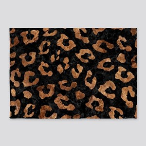 SKIN5 BLACK MARBLE & BROWN STONE (R 5'x7'Area Rug