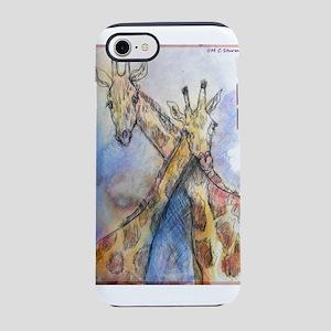 Giraffes! wildlife art iPhone 7 Tough Case