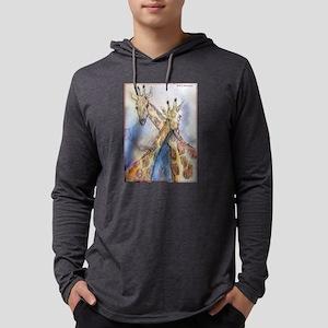 Giraffes! wildlife art Mens Hooded Shirt