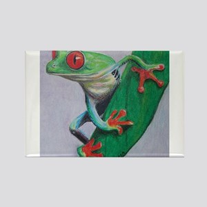 Coqui Frog Rectangle Magnet