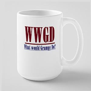 WWGD (What would Grampy do?) Large Mug