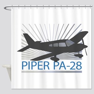 Aircraft Piper PA-28 Shower Curtain