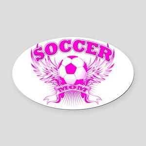 soccer MOM shield Oval Car Magnet
