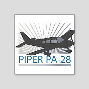 """Aircraft Piper PA-28 Square Sticker 3"""" x 3"""""""