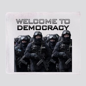 Welcome To Democracy Throw Blanket