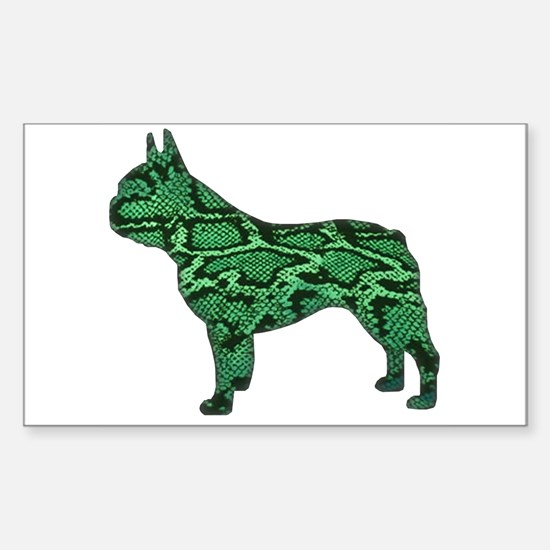 Snake Frenchie Rectangle Decal