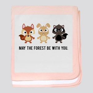 May the Forest Be With You Baby Blanket