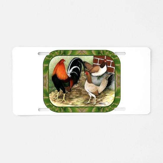 Barnyard Game Fowl Aluminum License Plate