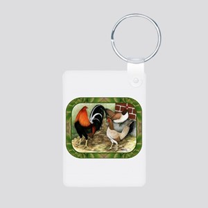 Barnyard Game Fowl Aluminum Photo Keychain