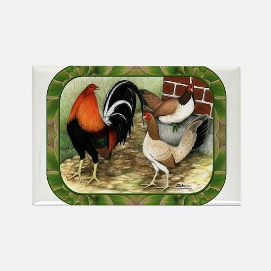 Barnyard Game Fowl Rectangle Magnet