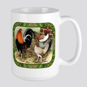 Barnyard Game Fowl Large Mug