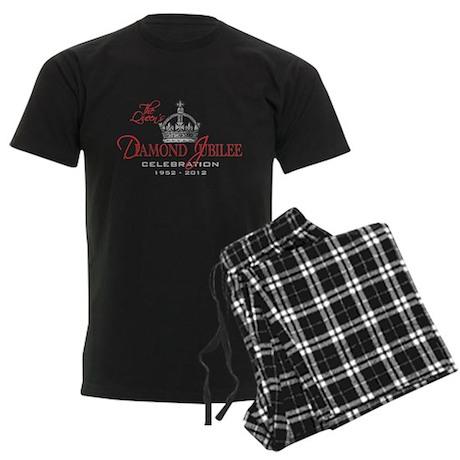 Queen Elizabeth Diamond Jubilee Men's Dark Pajamas