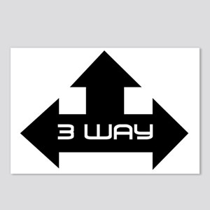 3 way Postcards (Package of 8)