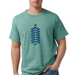 Christmas Flower Tree Mens Comfort Colors Shirt
