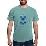 Christmas Flower Tree Mens Comfort Colors Shirt