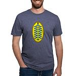 Christmas Flower Tree Mens Tri-blend T-Shirt
