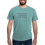 Working Hard Mens Comfort Colors Shirt
